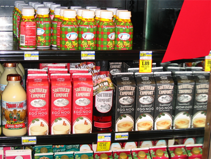 Southern comfort egg nog cartons in store