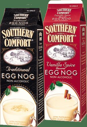 Southern comfort egg nog cartons