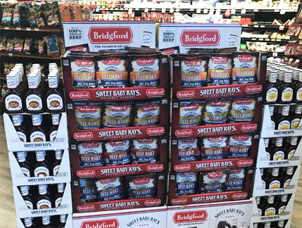 Sweet Baby Rays beef jerky in store