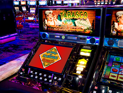 Tabasco slot machine in a casino