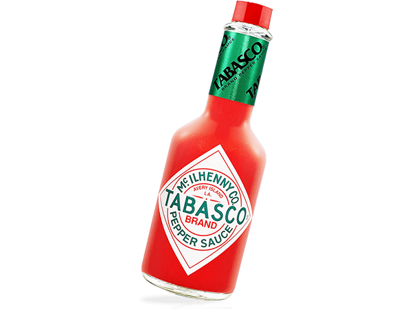 Cropped shot of Tabasco Bottle